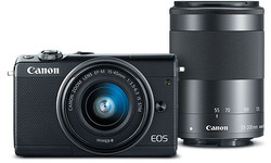 Canon Eos M100 15-45 + 55-200 kit Black