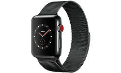 Apple Watch Series 3 42mm Stainless Steel Black + Sport Loop Milanese Black
