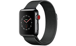 Apple Watch Series 3 38mm Stainless Steel Black + Sport Loop Milanese Black