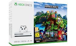 Microsoft Xbox One S 500GB White + Minecraft