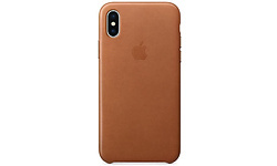 Apple Leather Case for iPhone X Saddle Brown