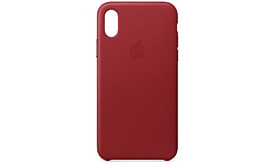 Apple Leather Case iPhone X Red