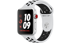 Apple Watch Nike+ 42mm Aluminuim Silver + Sport Band Black/White