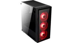 Aerocool Quartz Red Window Black