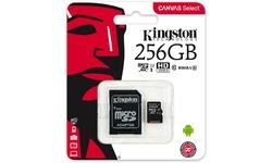 Kingston Canvas Select MicroSDXC UHS-I 256GB + Adapter