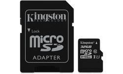 Kingston Canvas Select MicroSDHC UHS-I 32GB + Adapter