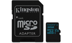 Kingston Canvas Go MicroSDHC UHS-I U3 32GB + Adapter