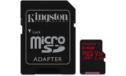 Kingston Canvas React MicroSDXC UHS-I U3 64GB + Adapter