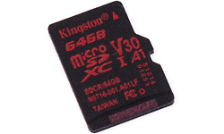 Kingston Canvas React MicroSDXC UHS-I U3 64GB