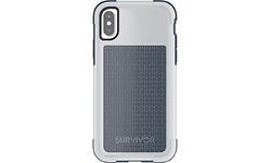Griffin Survivor Fit Apple iPhone X Back Cover Blue/ Grey