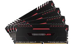 Corsair Vengeance Red LED Black 32GB DDR4-3000 CL16 quad kit