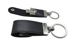 MicroMemory Leather USB2.0 1GB Black