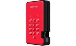 iStorage diskAshur 2 3TB Red