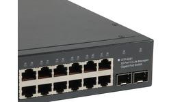 LevelOne Switch 48x GE GTP-5281 2xGSFP 19 780W 48xPoE+