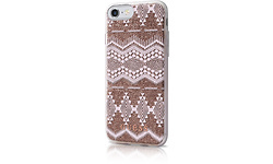Guess Tribal 3d Effect Tpu Cover For iPhone 7, Back / Taupe