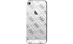 Guess TPU Transparent Case 4G Silver For Apple iPhone SE