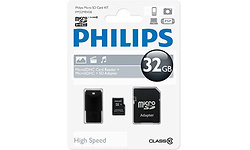 Philips MicroSDHC Class 10 32GB + USB Reader/Adapter