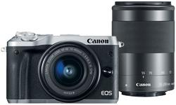 Canon Eos M6 15-45 + 55-200 kit Silver