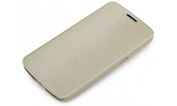 Röck Big City Leather Side Flip Case Cream Samsung Galaxy Mega 6.3 I9200