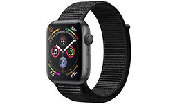 Apple Watch Series 4 44mm Space Grey Waven Band Black