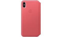 Apple iPhone XS Max Leather Folio Peony Pink