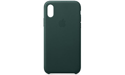 Apple iPhone Xs Leather Case Forest Green