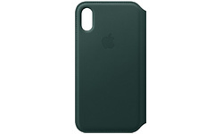 Apple iPhone Xs Leather Folio Forest Green