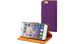Muvit iPhone 6 Wallet Case Whiteh 3 Cardslots Purple/Orange