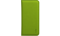 SBS Book Style Case Whiteh Pocket Card Holder for Galaxy S5 Acid Green