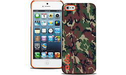 SBS Rubber Cover Case for iPhone 5S/5 Camouflage/Orange