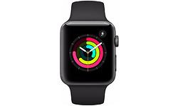 Apple Watch Series 3 38mm Space Grey Sport Band Black