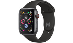 Apple Watch Series 4 4G 40mm Space Grey Sport Band Black