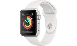 Apple Watch Series 3 42mm Silver Sport Band White