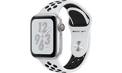 Apple Watch Nike+ Series 4 40mm Silver Sport Band Black/Platin
