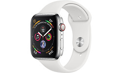 Apple Watch Series 4 4G 44mm Space Silver Sport Band White