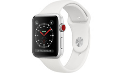 Apple Watch Series 3 4G 42mm Silver Sport Band White