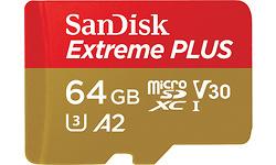 Sandisk Extreme Plus MicroSDXC UHS-I U3 A2 V30 64GB