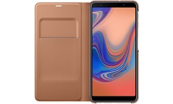 Samsung Galaxy A7 2018 Wallet Book Case Gold