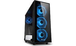 Sharkoon TG4 Blue LED Window Black
