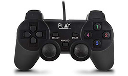 Ewent Play Gaming Wired USB Gamepad for PC Black