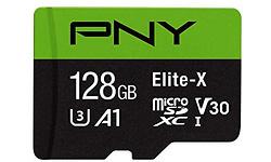 PNY Elite-X 128GB MicroSDXC UHS-I U3 128GB + Adapter