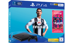 Sony PlayStation 4 Slim 500GB Black + Fifa 19