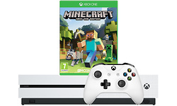 Microsoft Xbox One S White 1TB + Minecraft