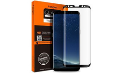 Spigen Samsung Galaxy S9 Plus Curved Tempered Glass Protector Black