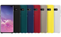 Samsung Leather Cover Grey Galaxy S10+