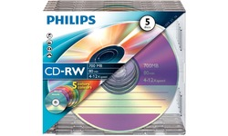 Philips CD-RW 700MB 12x 5pk Jewel Case
