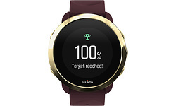 Suunto 3 Fitness Watch Burgundy Red/Gold