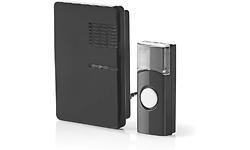 Nedis Wireless Doorbell Set Black
