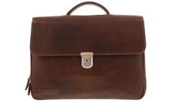 """Plevier Vintage Briefcase 15,6"""" Dark Brown"""