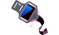 Mobiparts Comfort Fit Sport Armband Samsung Galaxy S7 Edge Neon Pink